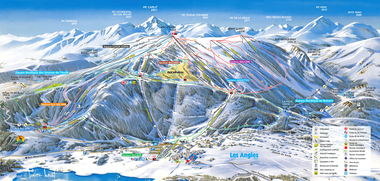 les angles reserve apartamentos y chalets en ski