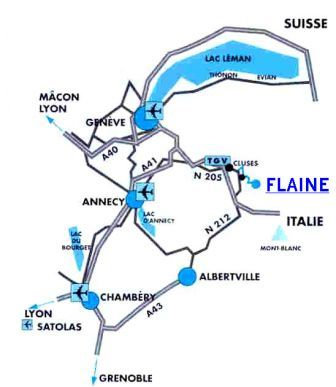 Access plan Flaine