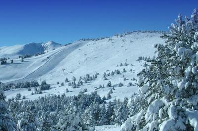 Font-Romeu - winter panorama