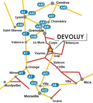 到达路线图 La Joue du Loup