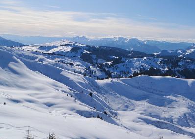 Espace Diamant - Schneelandschaft