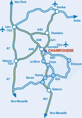 Access plan Chamrousse