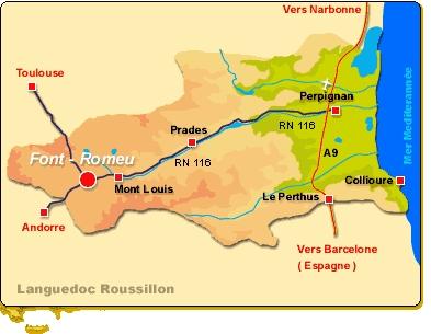 Príjazdová mapa Font-Romeu
