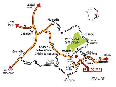 Mapa dojazdu La Norma