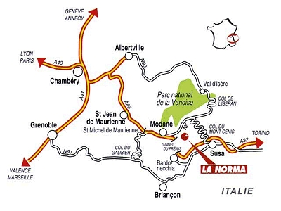 Vägbeskrivning La Norma