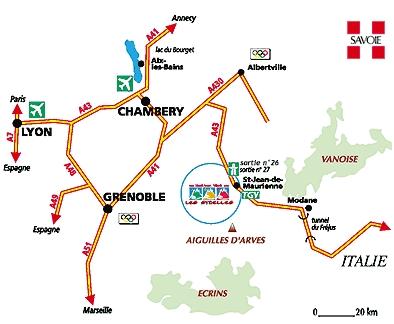 Anreiseplan Les Bottières