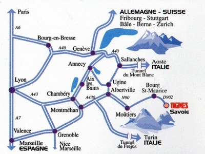 Access plan Tignes/Les Br�vi�res