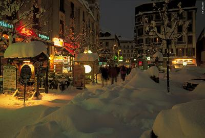 Chamonix -  at night