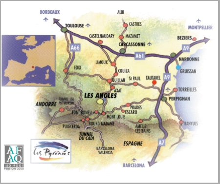 План заїзду Les Angles