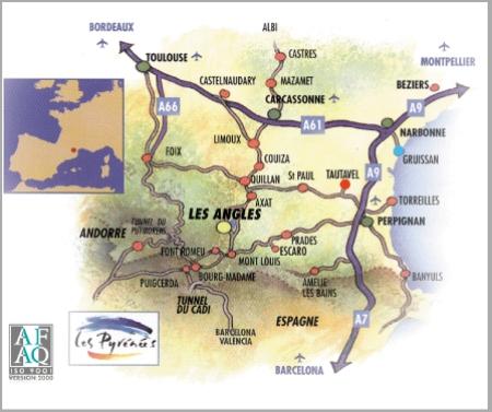 Navodila za pot Les Angles