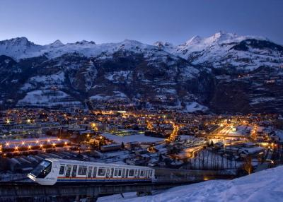 Bourg Saint Maurice -  at night