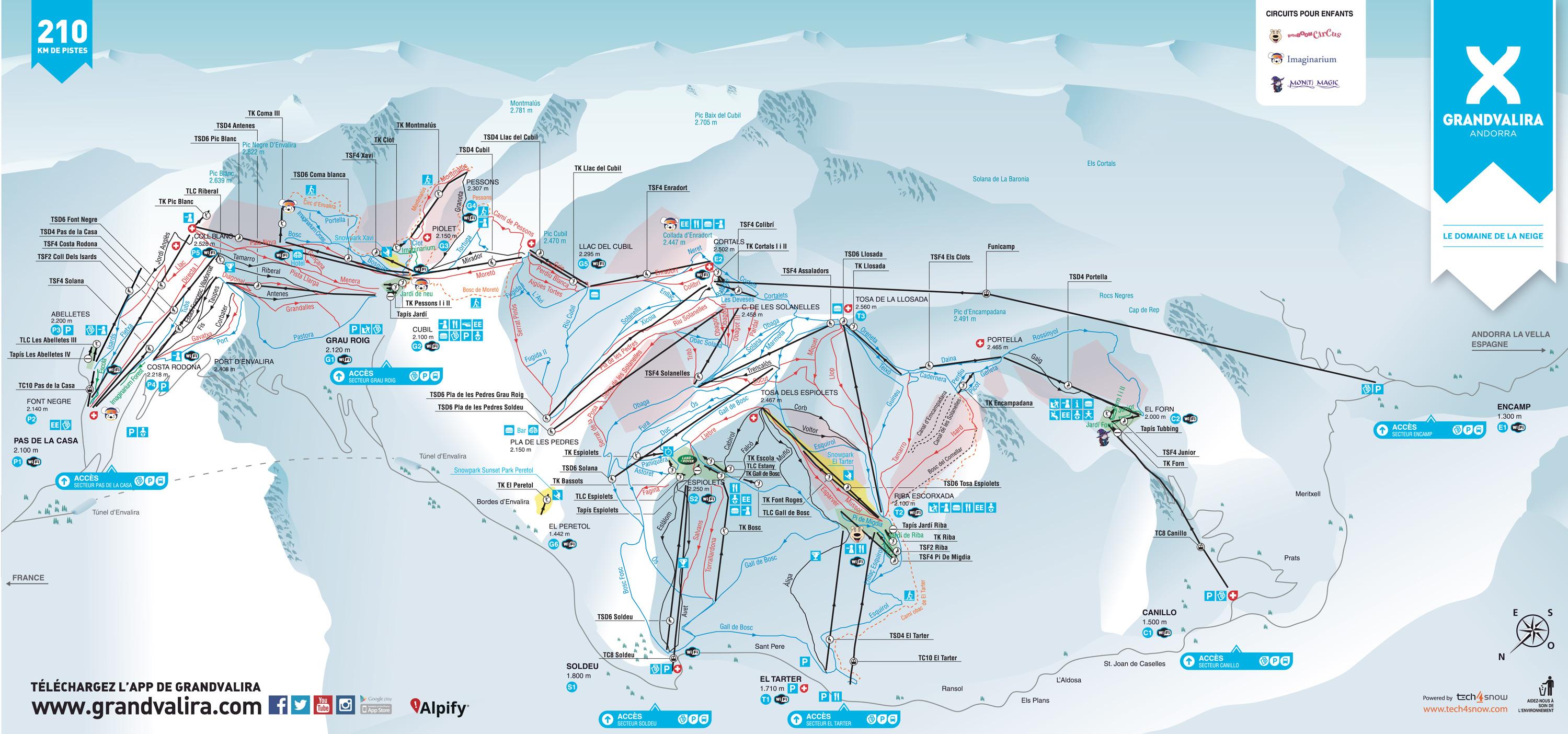 滑雪道地图