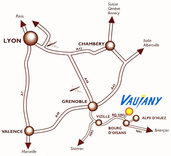 Access plan Vaujany