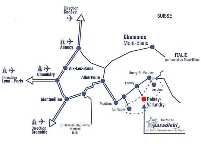 Access plan Peisey-Vallandry