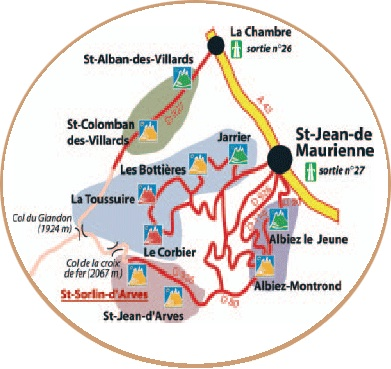 Access plan Saint Sorlin