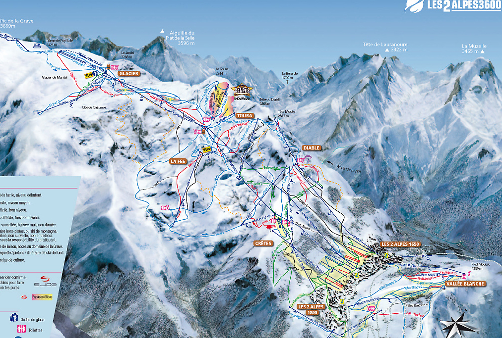 план лыжных трасс