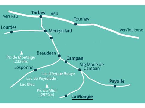 érkezési terv La Mongie
