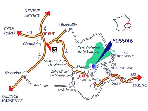 Access plan Aussois