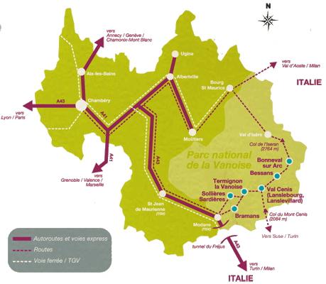 Mapa dojazdu Termignon