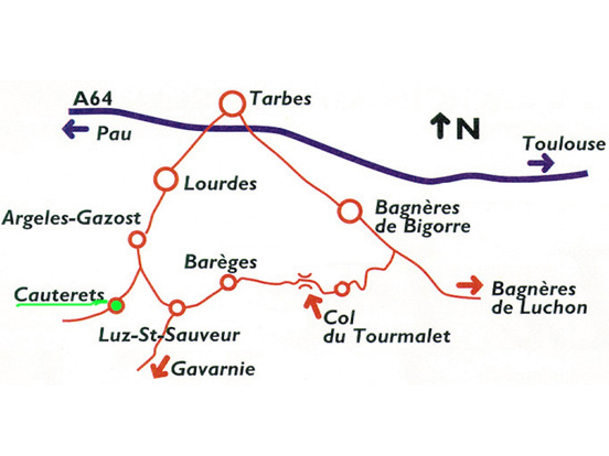 Access plan Cauterets