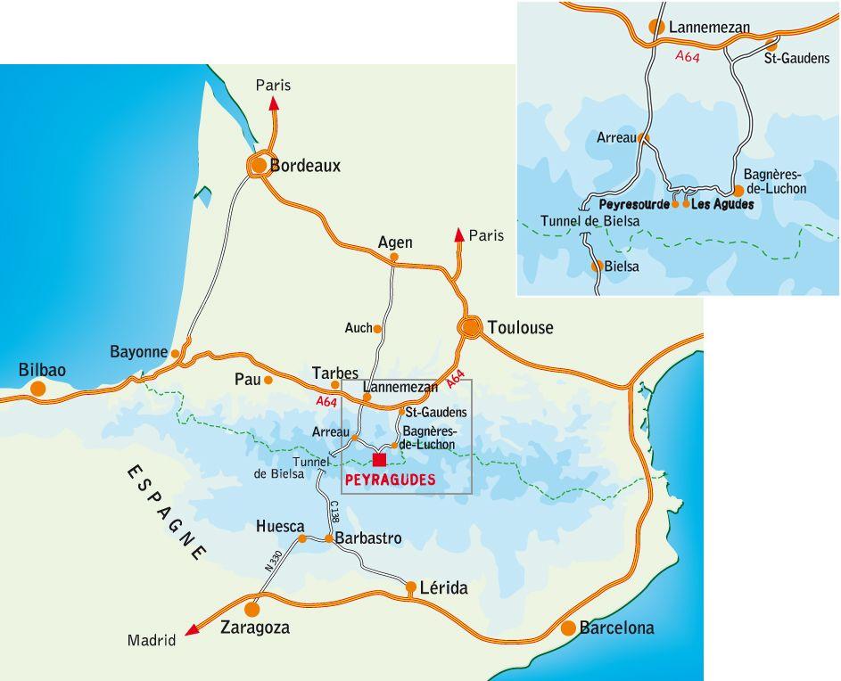 Карта прибытия Peyragudes