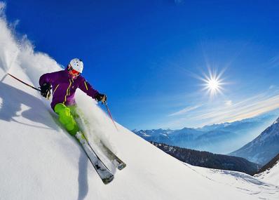 Leukerbad - skiing