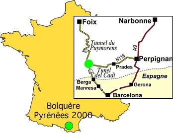 Saabumisplaan Pyrénées 2000