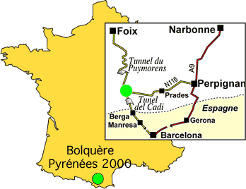 Aankomst plan Pyrénées 2000