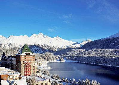 St. Moritz - Vista sulle montagne