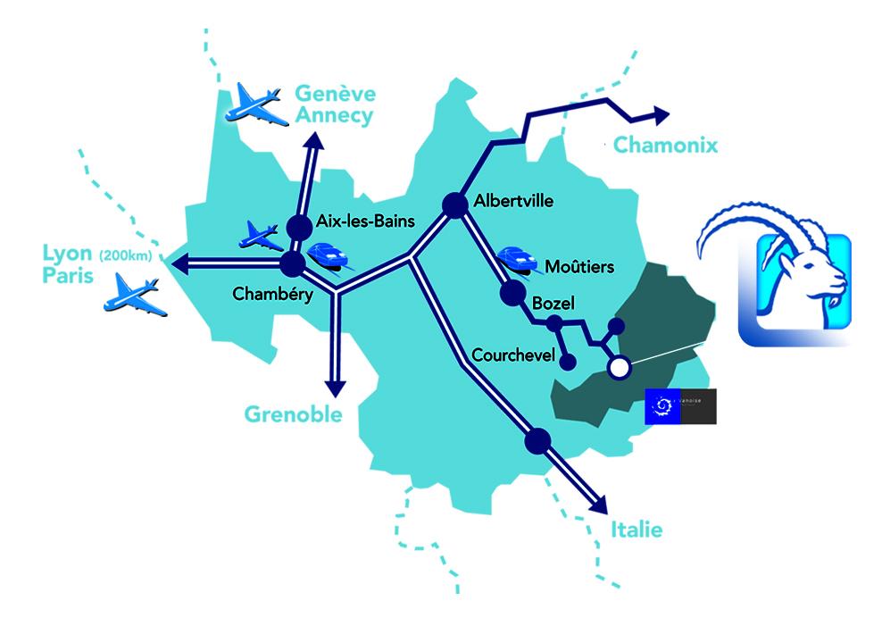 Mapa dojazdu Pralognan