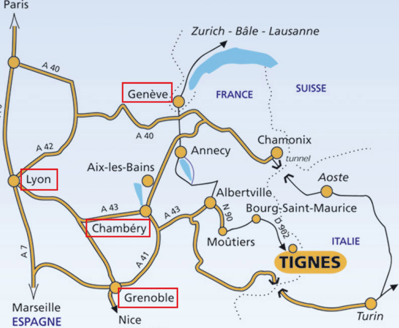 Access plan Tignes
