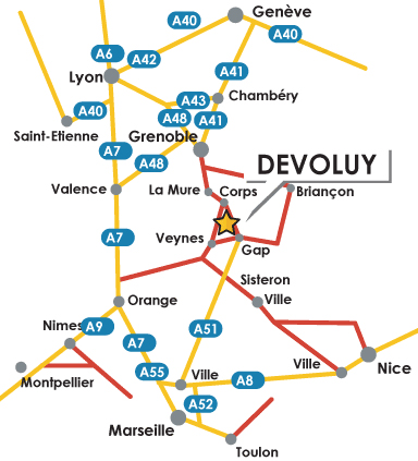 Navodila za pot La Joue du Loup