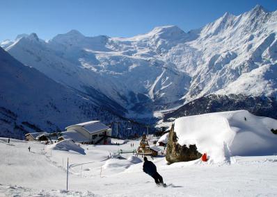 Saas Fee - mountain panorama