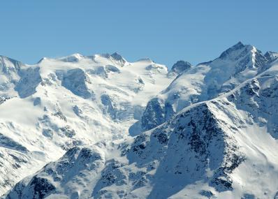 Engadin St. Moritz - mountain panorama