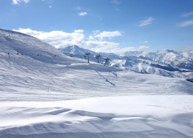 Peyragudes - Telesilla y pista de esquí