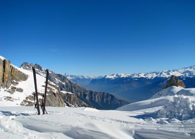 Ovronnaz - winter panorama