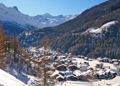 Saas Grund - winter panorama