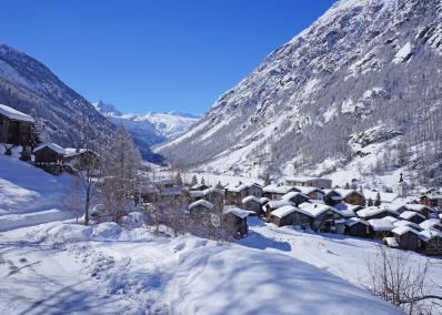 Täsch - winter panorama