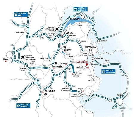 Come raggiungere La Rosière