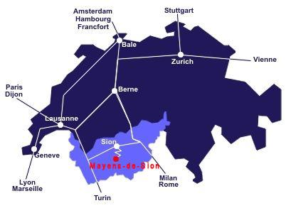 Come raggiungere Mayens-de-Sion