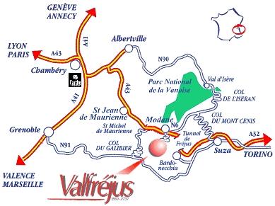 План за достъп Valfréjus