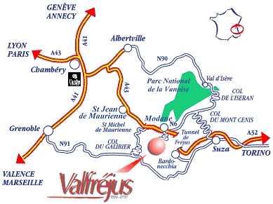 érkezési terv Valfréjus