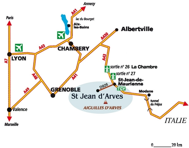 Access plan Saint Jean d'Arves