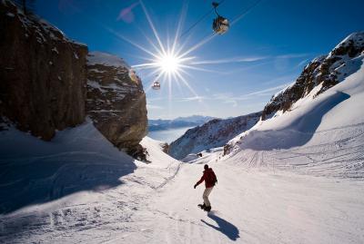 Crans-Montana - snowboarding