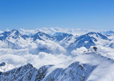 Alpe d'Huez -  aus der Vogelperspektive