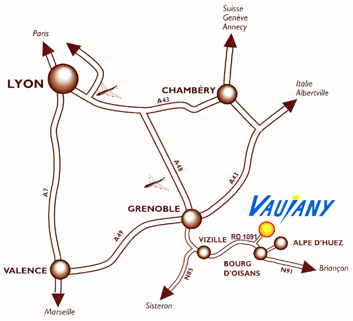 Come raggiungere Vaujany
