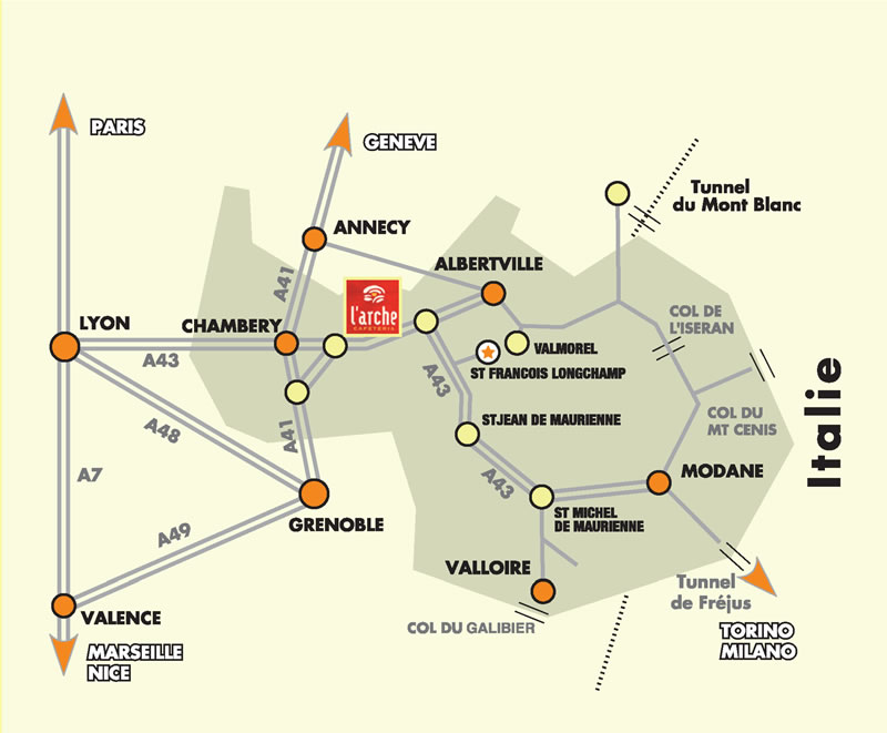 Atvykimo žemėlapis Saint François