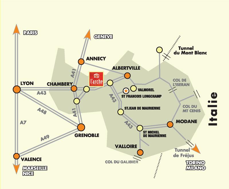 Anreiseplan Saint François