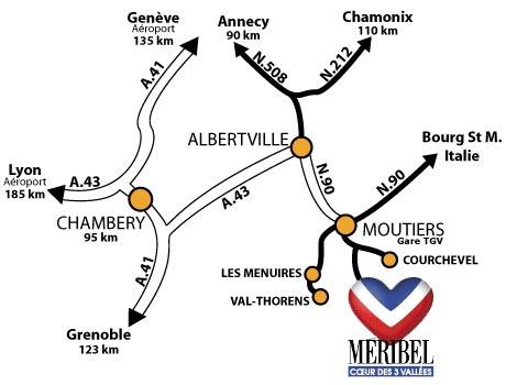 Aankomst plan Méribel-Mottaret