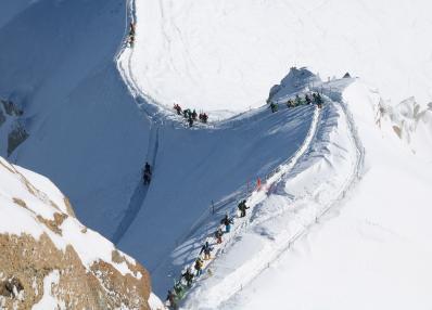 Mont-Blanc - snowshoe hiking